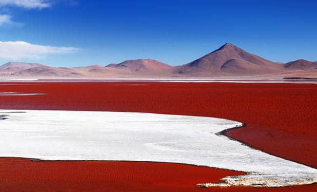 lago vermelho