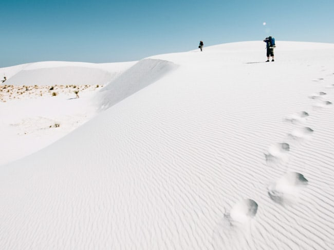 White Sands National Monument, o exuberante deserto branco do Estados Unidos