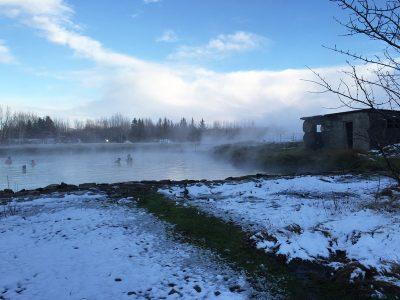 A lagoa secreta de águas termais da Islândia